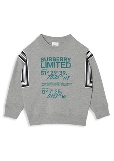 Burberry Little Kid's & Kid's Coordinates-Print Cotton Sweatshirt