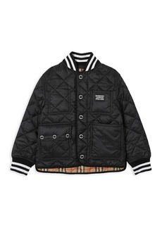 Burberry Little Kid's & Kid's Delaney Quilted Bomber Jacket