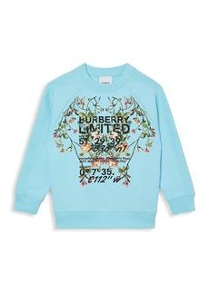 Burberry Little Kid's & Kid's Floral Coordinate Sweatshirt