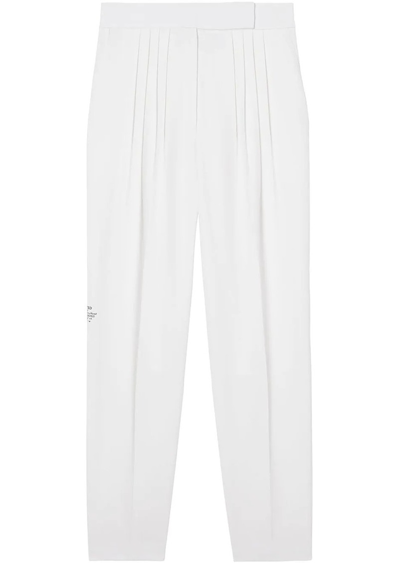 Burberry Location print trousers