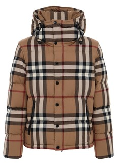 Burberry Lockwell Check Print Cotton Down Jacket