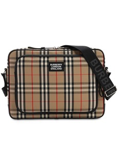 Burberry Logo Canvas Check Marlon Messenger Bag