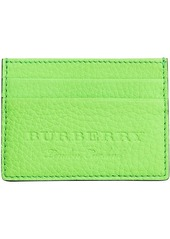 Burberry logo embossed card case