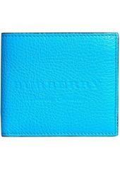 Burberry logo embossed international bifold wallet