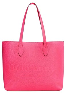 Burberry logo embossed tote