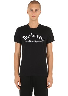 Burberry Logo Embroidered Cotton Jersey T-shirt