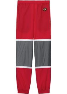 Burberry Logo Graphic Striped Nylon Trackpants