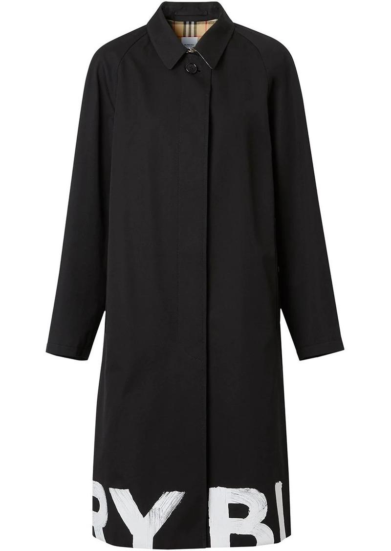 logo-hem trench coat