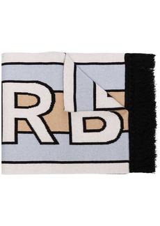 Burberry logo-intarsia cashmere scarf