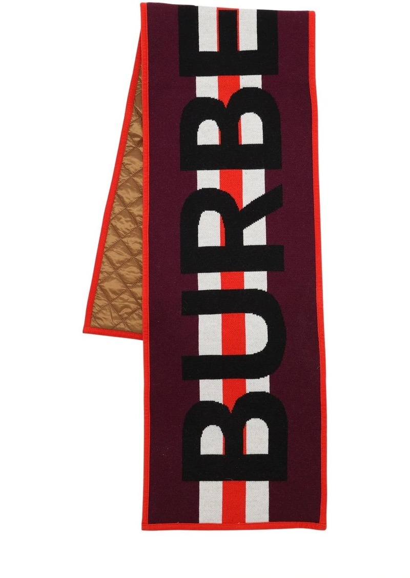 Burberry Logo Jacquard Merino Wool Scarf