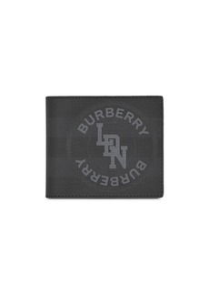 Burberry logo London check wallet