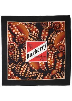 Burberry Logo Octopus Print Cotton & Silk Scarf