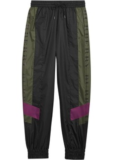 Burberry Logo Panel Shell Suit Pants