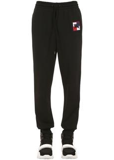 Burberry Logo Patch Cotton Jersey Sweatpants