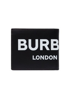 Burberry logo print bi-fold wallet