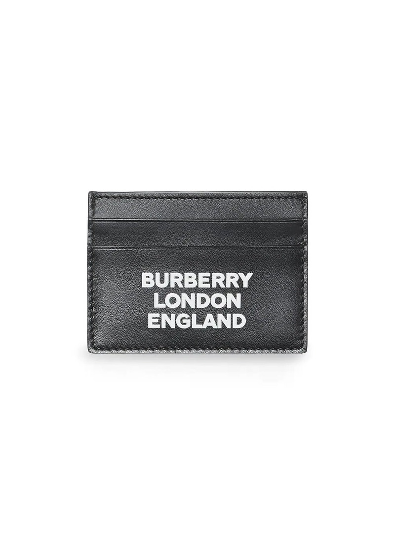 Burberry logo print cardholder