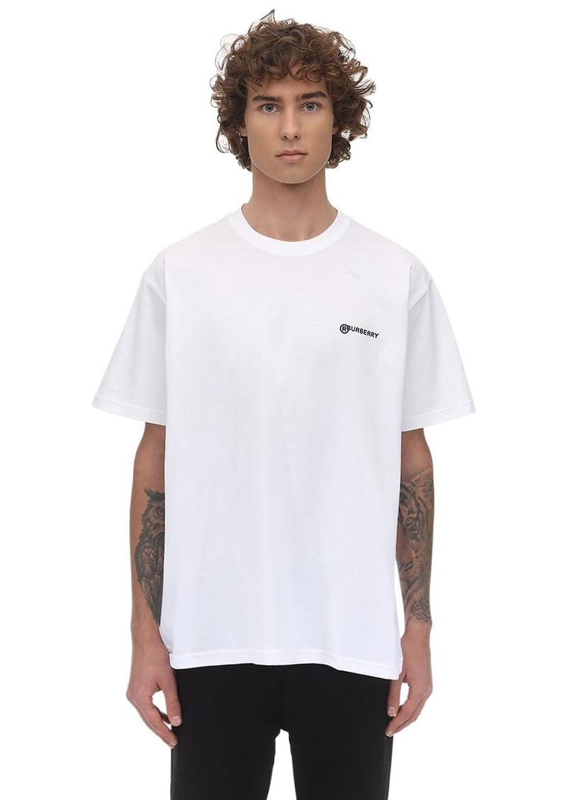 Burberry Logo Print Cotton Jersey T-shirt