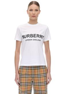 Burberry Slim Logo Print Cotton Jersey T-shirt