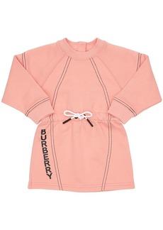 Burberry Logo Print Cotton Sweat Dress