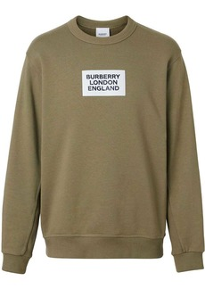 Burberry Logo print cotton sweatshirt