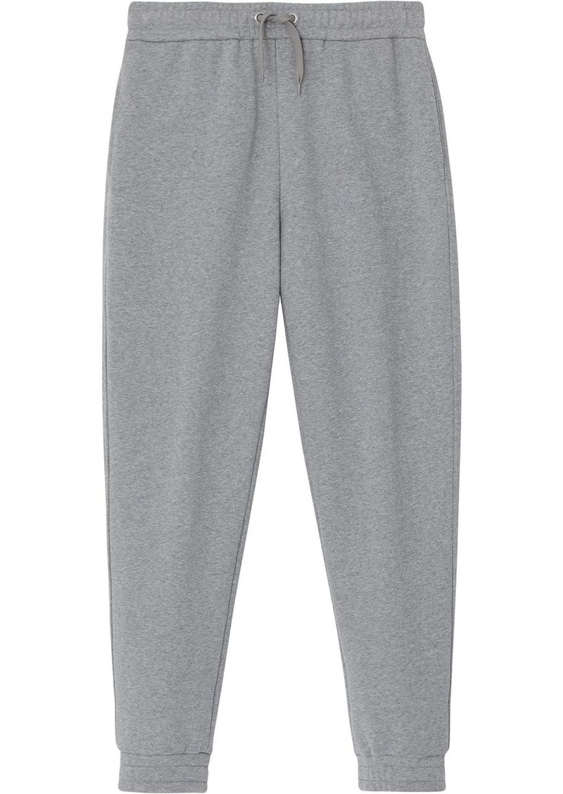Burberry Logo Print Cotton Trackpants