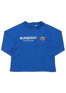 Burberry Logo Print L/s Cotton Jersey T-shirt