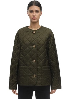Burberry Logo Print Quilted Short Jacket