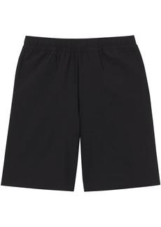 Burberry Logo Print Stretch Nylon Shorts