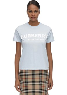 Burberry Logo Printed Cotton Jersey T-shirt
