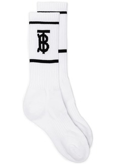 Burberry logo socks