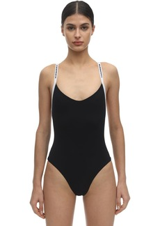 Burberry Logo Stripe Lycra One Piece Swimsuit