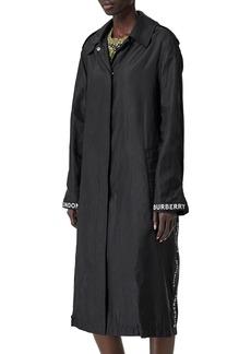 Burberry Logo-Taped Nylon Raincoat