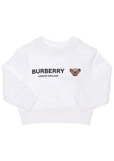 Burberry Logot Print Cotton Sweatshirt