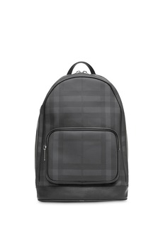 Burberry London Check and Leather Backpack