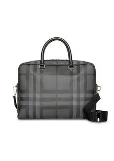 Burberry London Check and Leather Briefcase