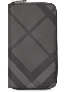 Burberry london check ziparound wallet