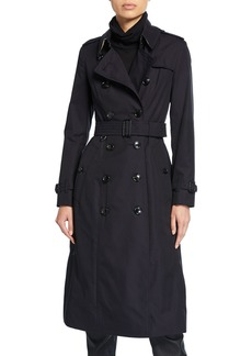Burberry Long Chelsea Fitted Cotton Trench Coat