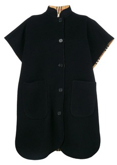 Burberry loose fitted cape coat