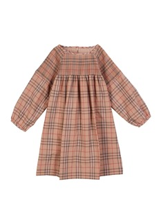 Burberry Loralie Long-Sleeve Dyed Check Dress  Size 3-14