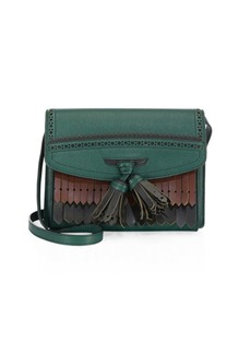 Burberry Macken Small Leather Fringe Bag
