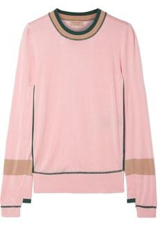 Burberry Mancos Silk And Cashmere-blend Sweater