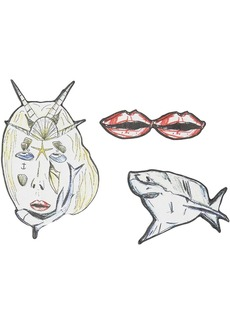 Burberry marine sketches brooches