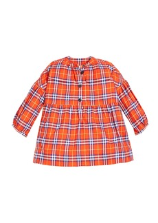 Burberry Marna Check Puff-Sleeve Dress