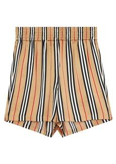Burberry Marsett Icon Stripe Silk Shorts