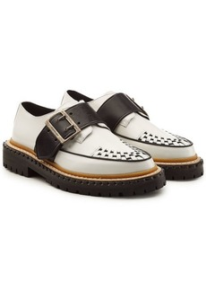 Burberry Mason Buckle Strap Leather Creepers