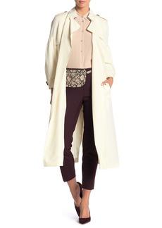 Burberry Maythorne Blouson Sleeve Silk Trench Coat