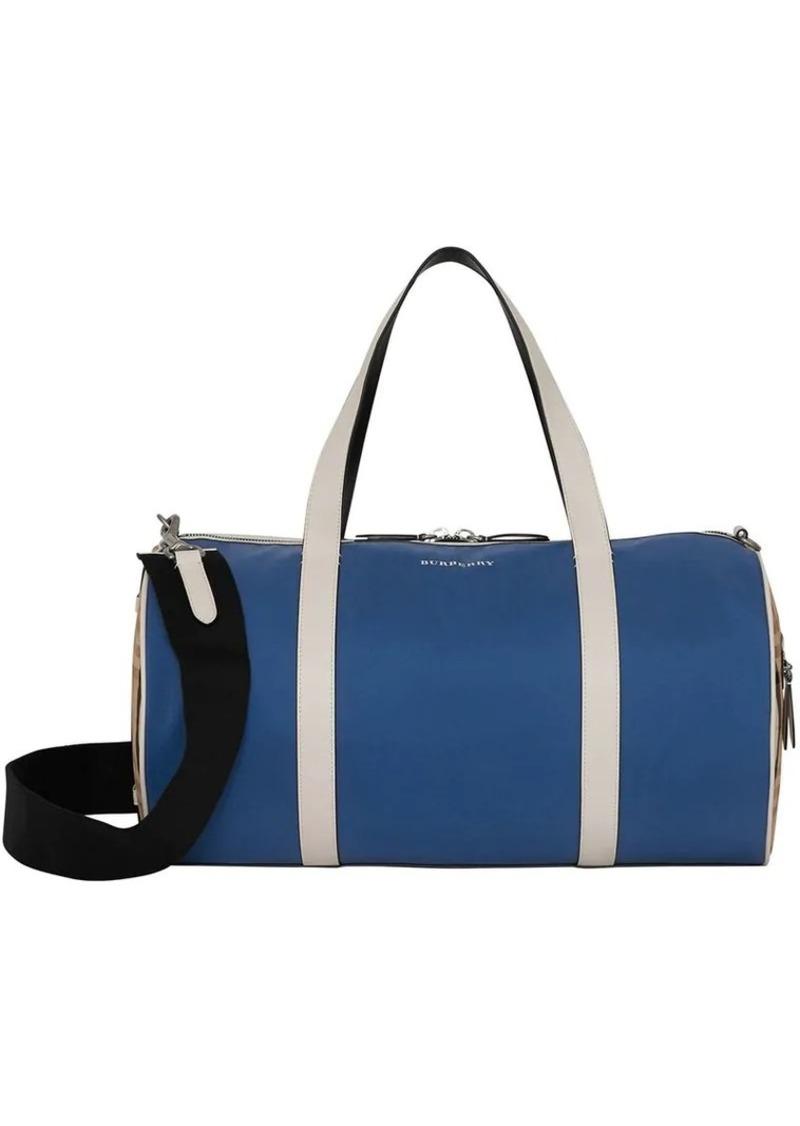 Burberry Medium Colour Block Vintage Check Barrel Bag Now  640.00 2511dc68265e3