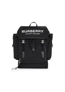 Burberry medium logo detail backpack