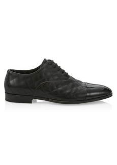 Burberry Menningson Leather Evening Derby Shoes
