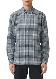 Burberry Men's Alexander Check Sport Shirt